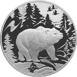 3 рубля. Медведь